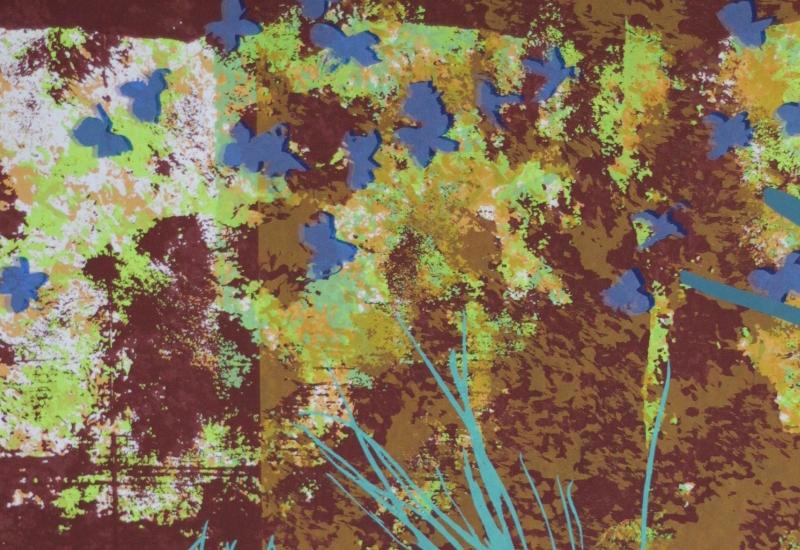 Frühlingsfest im Atelier! Frische Blüten und Gräser sowie Pinselspuren wurden belichtet. Erdig, feucht und prall wurde der Frühling auf meinen Bildern.
