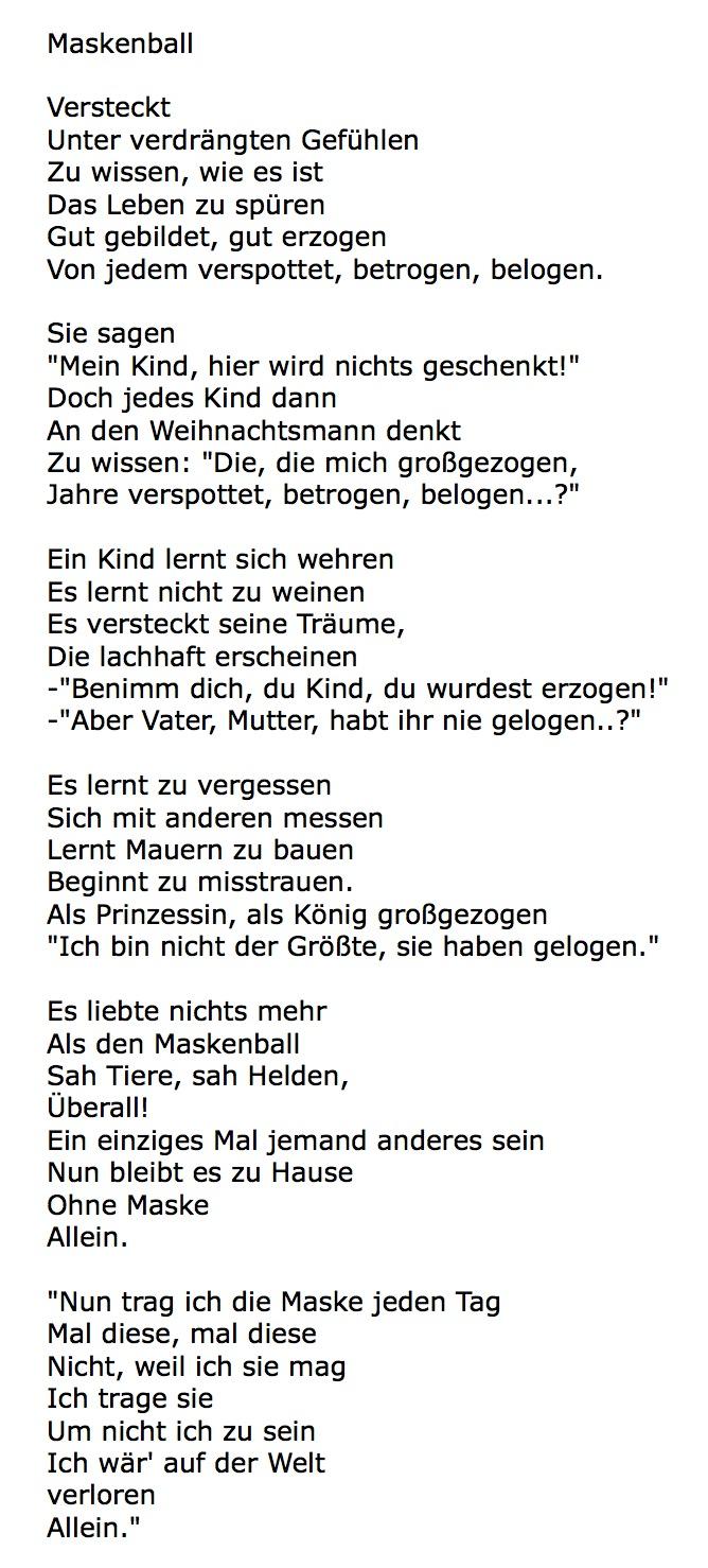Und Hier Ist Katharinas Gedicht: